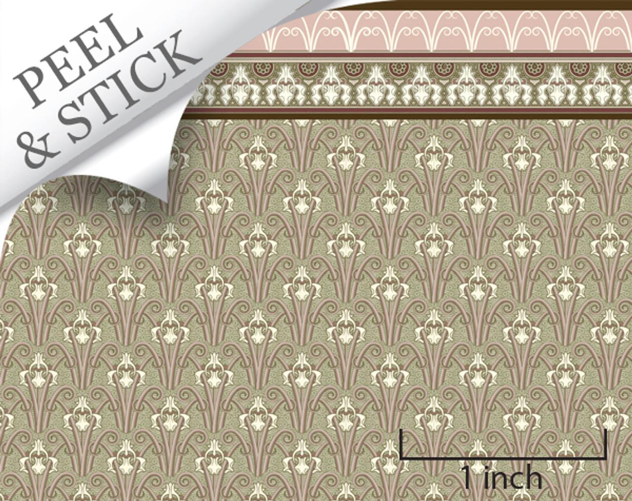 1 48 Peel And Stick Wallpaper Mucha In Paris