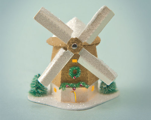 Gold Color Windmill Glitter House Kit