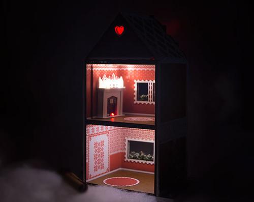 LED lighting kit for Gingerbread Cafe