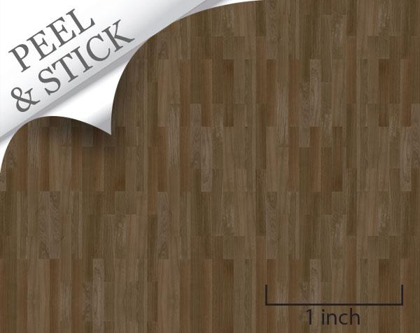 148 Peel And Stick Flooring Walnut Random Plank True2scale