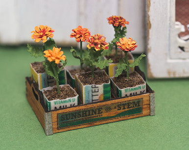 Crate Of Marigolds Kit True2scale Dollhouse Miniatures