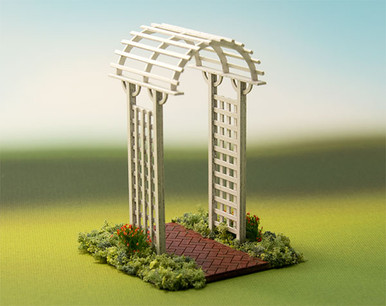 1 48 Arch Top Arbor Kit True2scale Dollhouse Miniatures