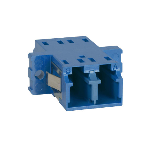 LC to LC Fiber Optic SC Mount with Duplex Adapter in Blue with Ceramic Sleeve