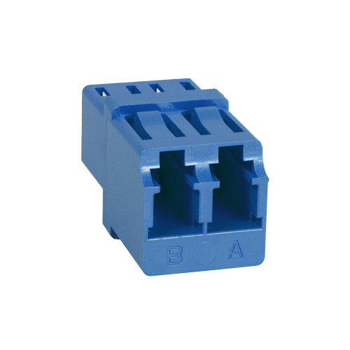 LC to LC Fiber Optic Square Mount with Duplex Adapter in Blue with Ceramic Sleeve
