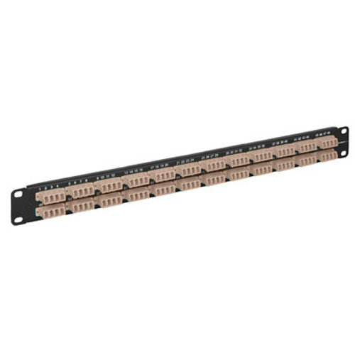 LC to LC Fiber Optic Patch Panel Pre-loaded with 96 Beige Fibers