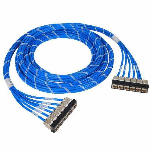 Pre-terminated FTP Cassette Patch Panel with CMR CAT6A Cable Assembly, Bezel to Bezel