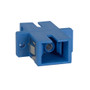 SC to SC Fiber Optic SC Mount with Simplex Adapter in Blue with Ceramic Sleeve