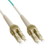 LC Uniboot Fiber Optic Patch Cord with Duplex 10 Gb Multimode OM3 Aqua Cable in 1 Meter