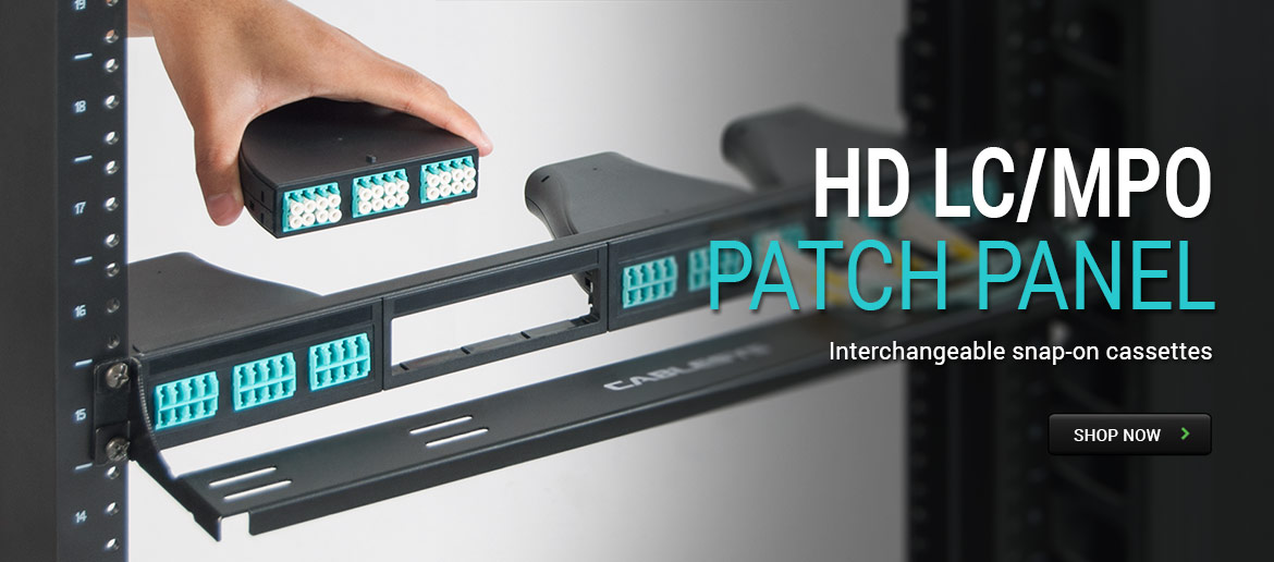 HD LC/MPO Patch Panel - Interchangeable snap-on casettes