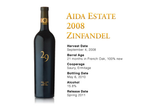 Vineyard 29 Aida Estate Zinfandel 2008