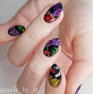 Large flower nail foil blog