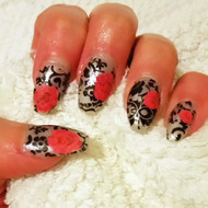 Nail art foil and pink rose water decals blog