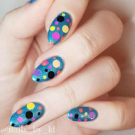 Nail art glitter dots blog