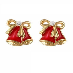 Red Christmas bell 3d nail art charms
