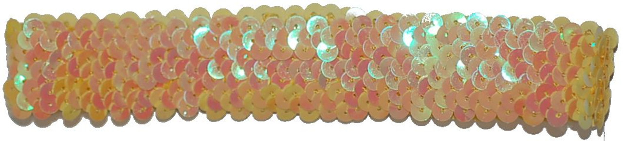 Yellow Sequin Stretch Headbands for dance wear. Our Headbands Shine in your hair and look spectacular. Great pricing on Dance wear.