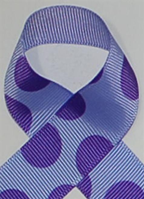 Iris and Purple Grosgrain Biggie Dot