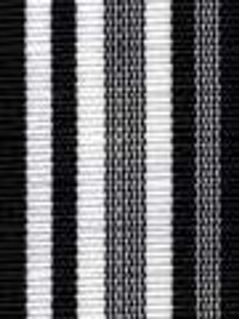 Black Waves Preppy Stripe Ribbon
