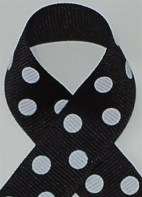 Black w/ White Polka Dots
