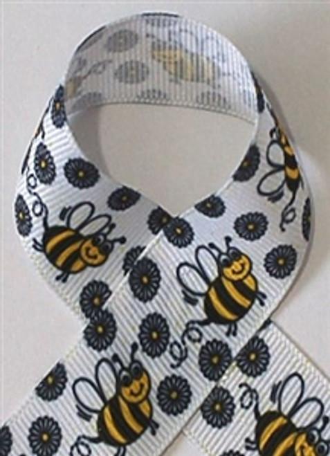 Bumble Bee Grosgrain Ribbon