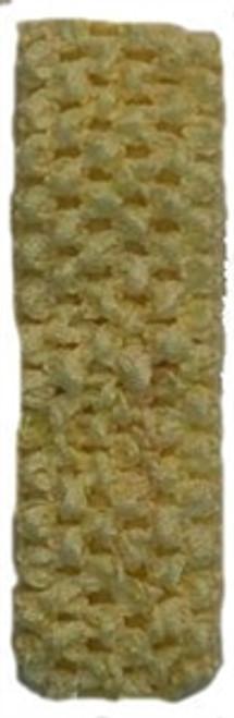 Yellow Crochet Headband