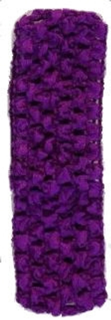 Purple Crochet Headband