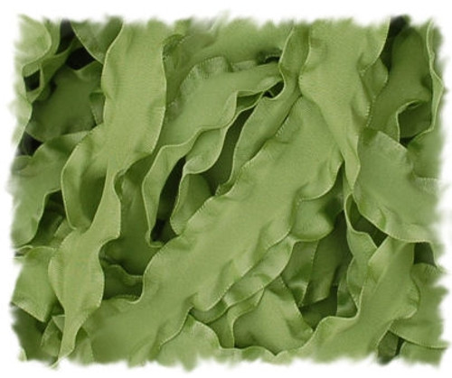 Lemongrass Double Ruffle Ribbon