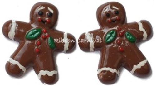 Gingerbread Men Flatback Resin