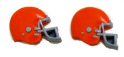 Football Helmet - Orange Flatback Resin