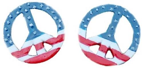 Peace Patriotic Flatback Resin