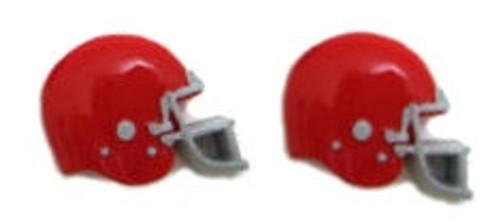 Football Helmet - Red Flatback Resin