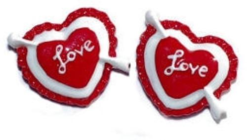 Love Heart Flatback Resin
