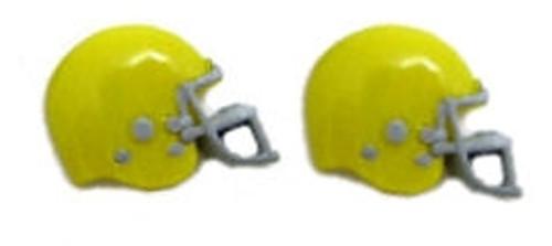 Football Helmet - Yellow Flat Back Resins