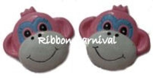 Pink Monkey Flat Back Resins