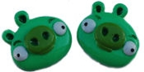 Green Pig Flat Back Resins