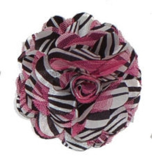 Rosette flowers - Hot Pink Zebra