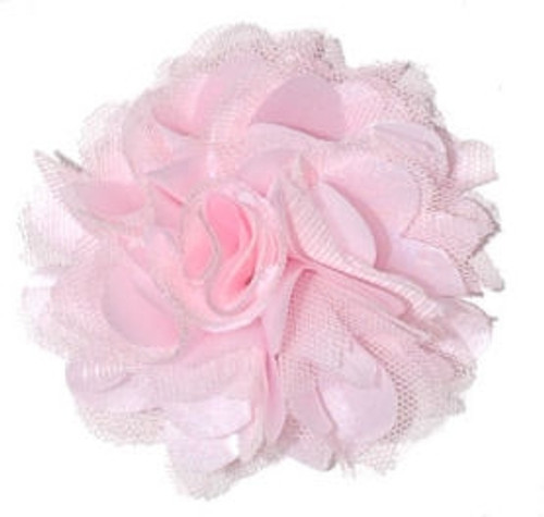 Rosette fabric flowers - Light Pink