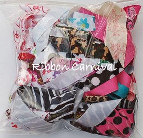 Half Pound Printed Ribbon Grab Bag