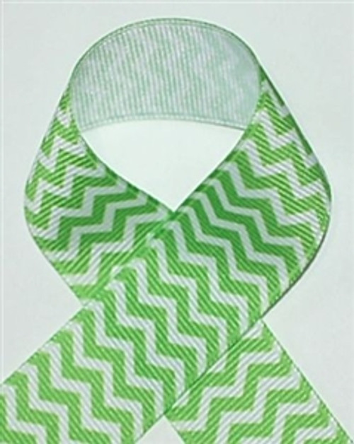 Bright Green Chevron Ribbon