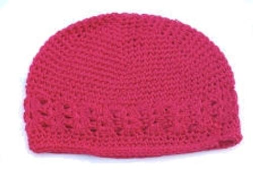 Hot Pink Crochet Kufi Hats