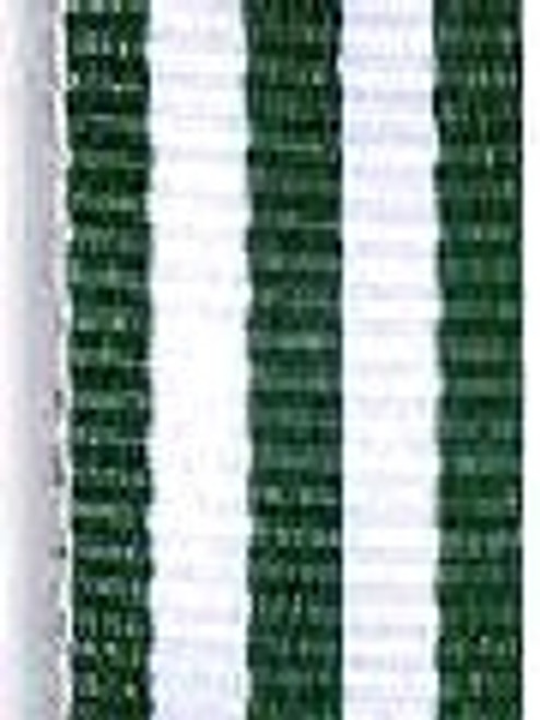 Hunter Green with White Stripe Ribbon