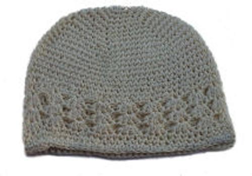 Cream Crochet Kufi Caps