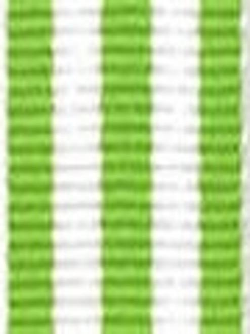 Lime with White Stripe Ribbon