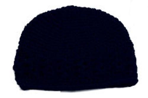 Navy Crochet Kufi Hats