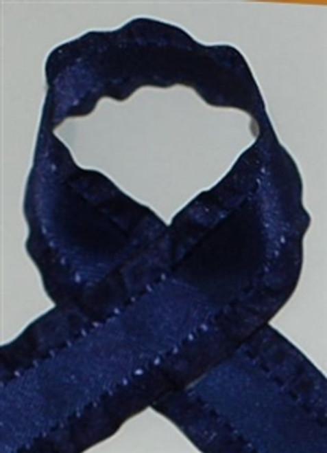 Navy Ruffle Ribbon