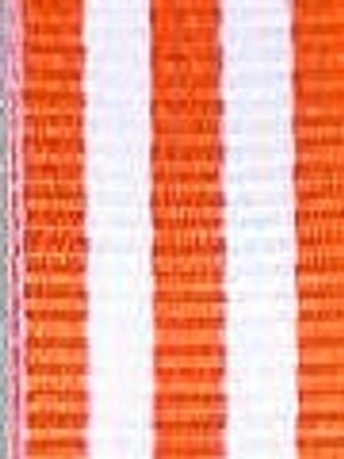 Orange with White Stripe Ribbons