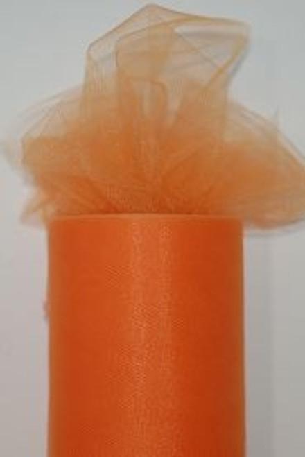 Orange Cream Tulle Fabric