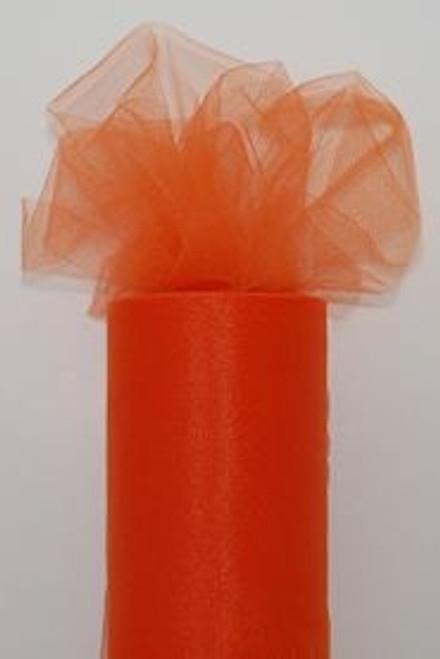 Orange Tulle Fabric