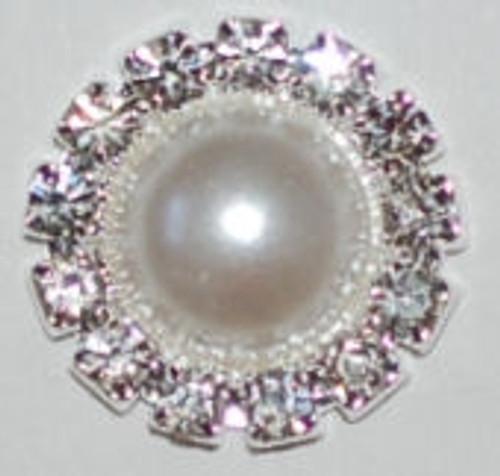 Crystal Rhinestone Pearl Button