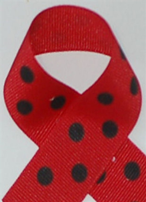 Red with Black Polka Dots