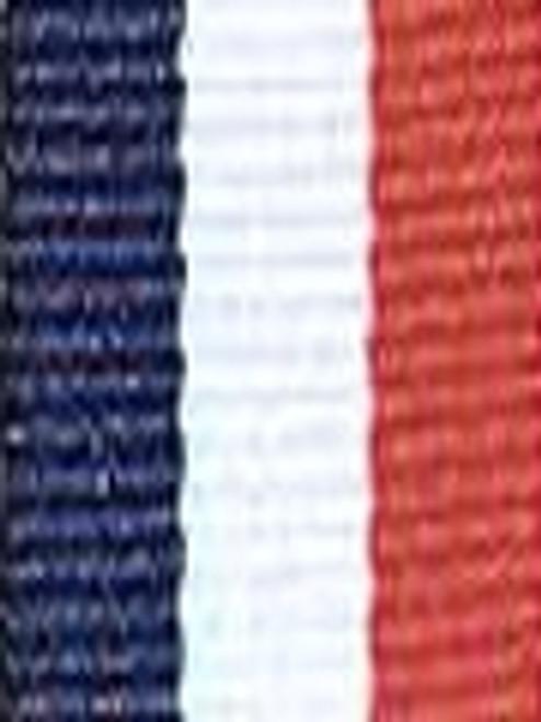 Navy Red and White Preppy Stripe Ribbon